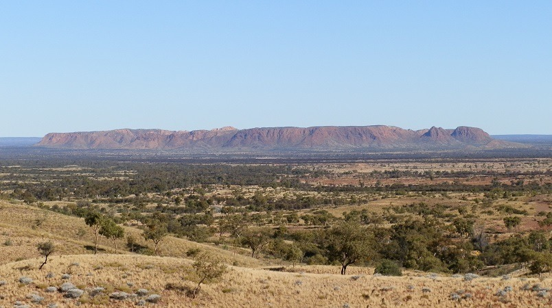 Tnorala (Gosse Bluff) from Tylers Pass Lookout, Central Australia