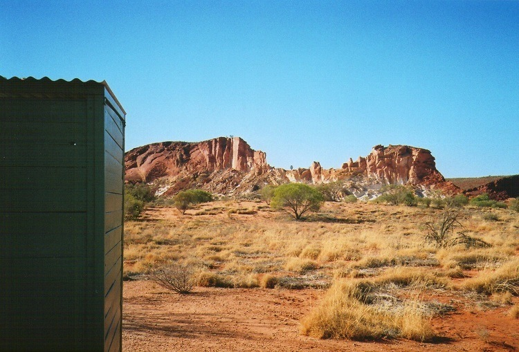 Scenic Public Loo at Rainbow Valley, Central Australia