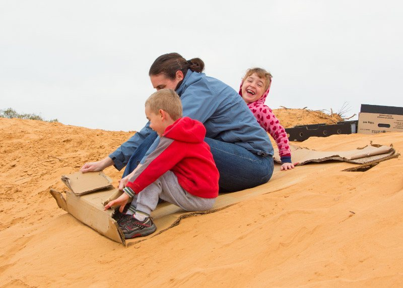 Anne and family at Perry Sandhills, New South Wales*