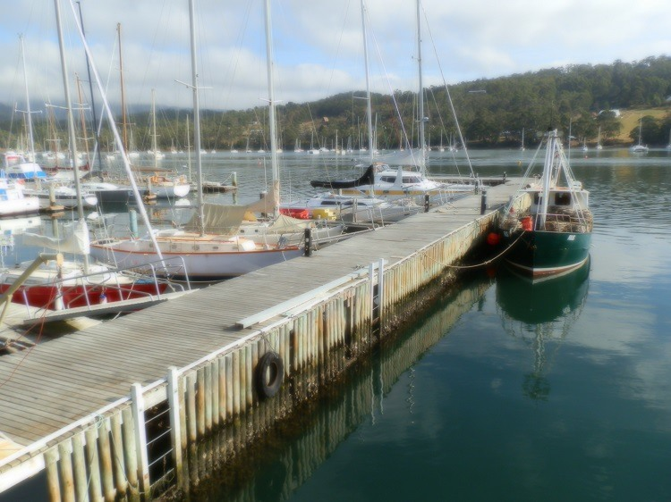 Not 'blurry' - ARTY! Kettering Marina, Tasmania