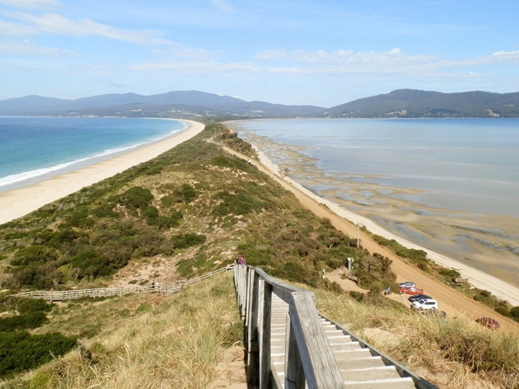 The Neck from Truganini Lookout, Bruny Island, Tasmania
