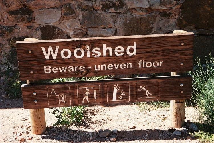 Kanyaka Woolshed Sign