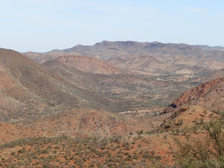 Arkaroola Village from Coulthard Lookout