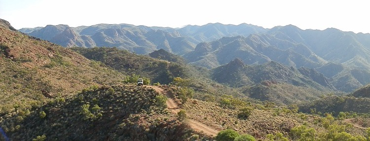 Ascent to Sillers Lookout, Arkaroola Wilderness Sanctuary, SA
