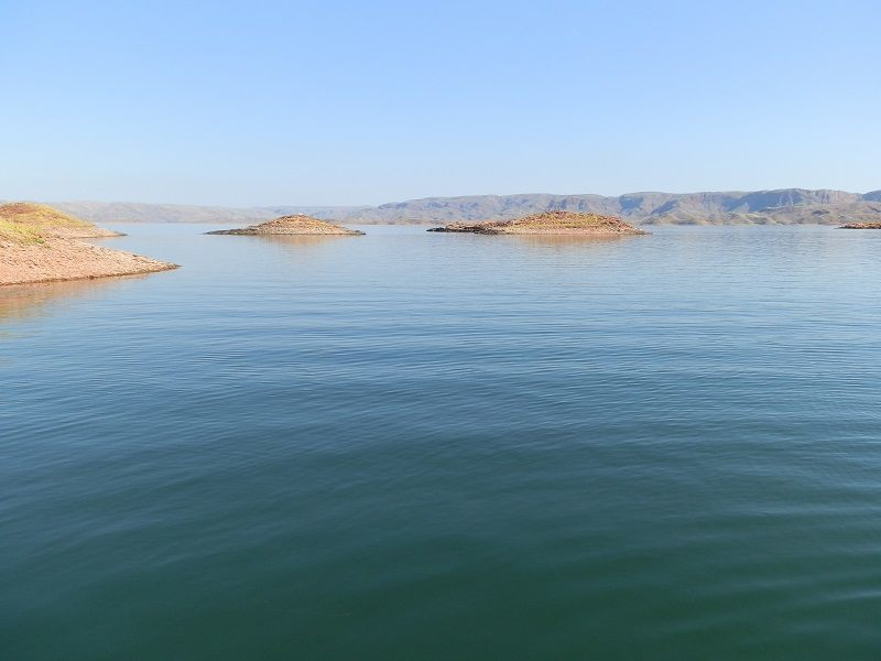 Islands on Lake Argyle