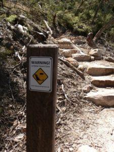Warning Sign, Mt Abrupt