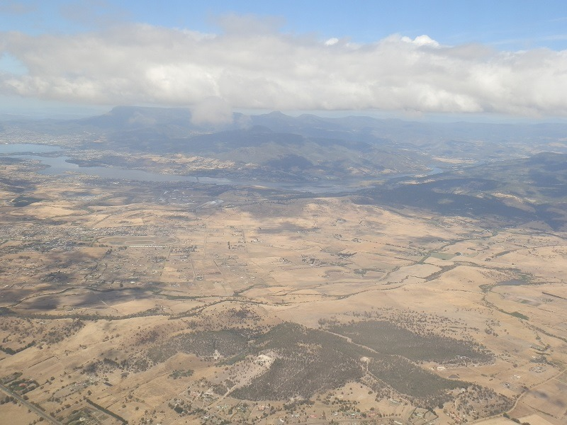 Mt Wellington from the Air, Tasmania
