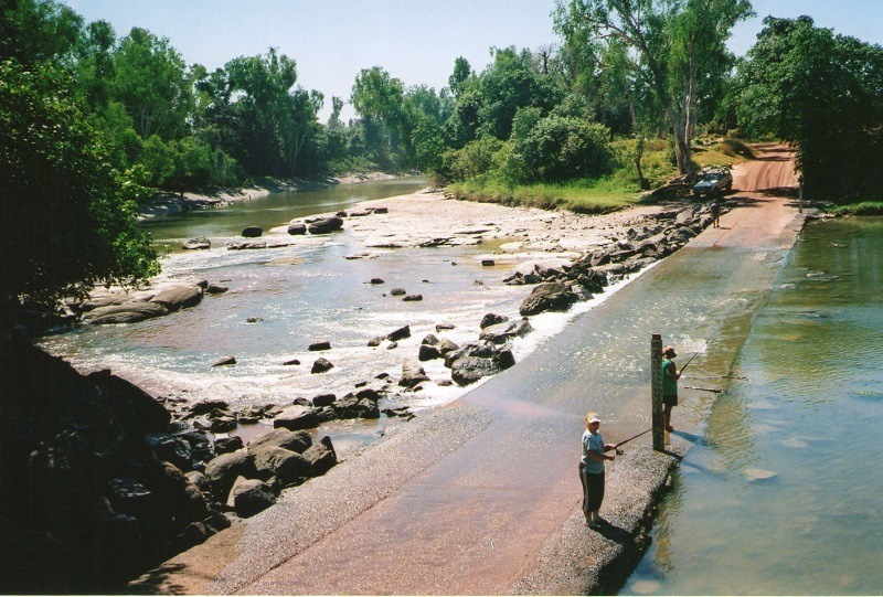 Croc HOT spot - Cahills Crossing, via Kakadu, Northern Territory