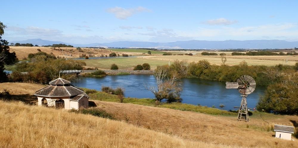 Western Tiers from Woolmers Estate, Tasmania