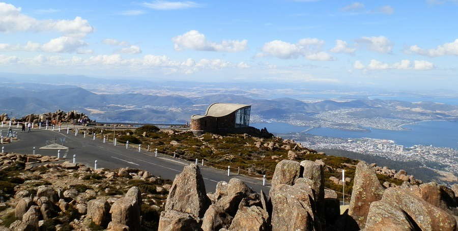 View over Hobart from Mt Wellington, Tasmania