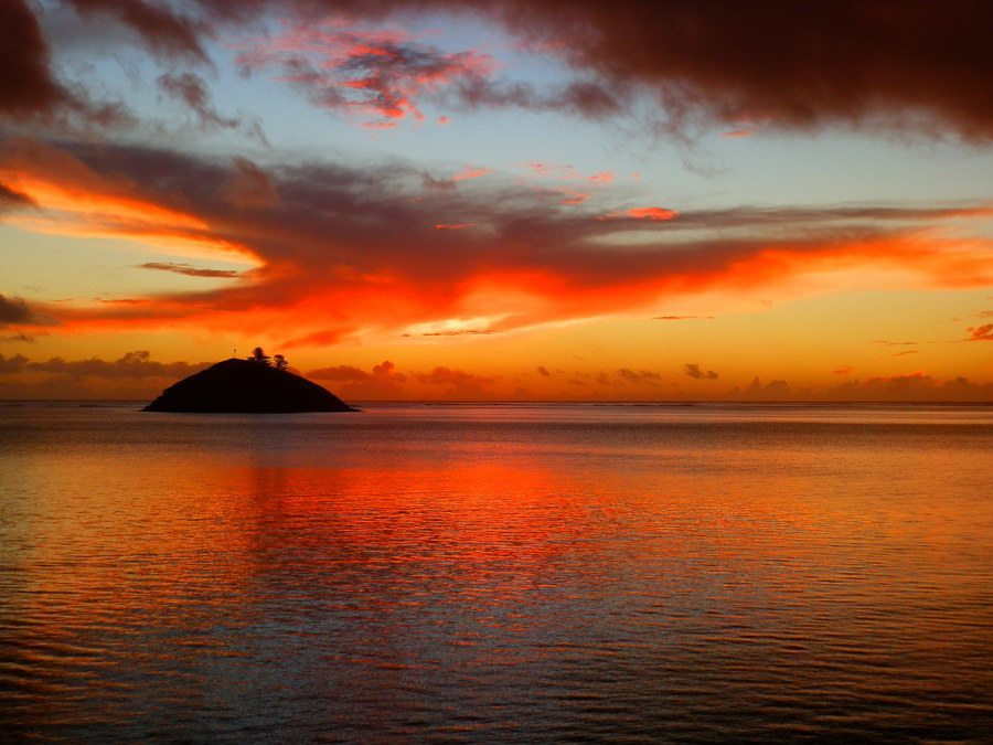 Sunset over Blackburn Island, Lord Howe Island, New South Wales