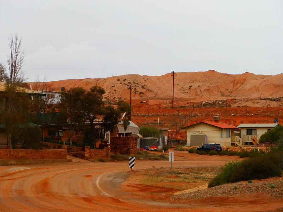 A DULL Day in Opal Mining Town Andamooka, South Australia