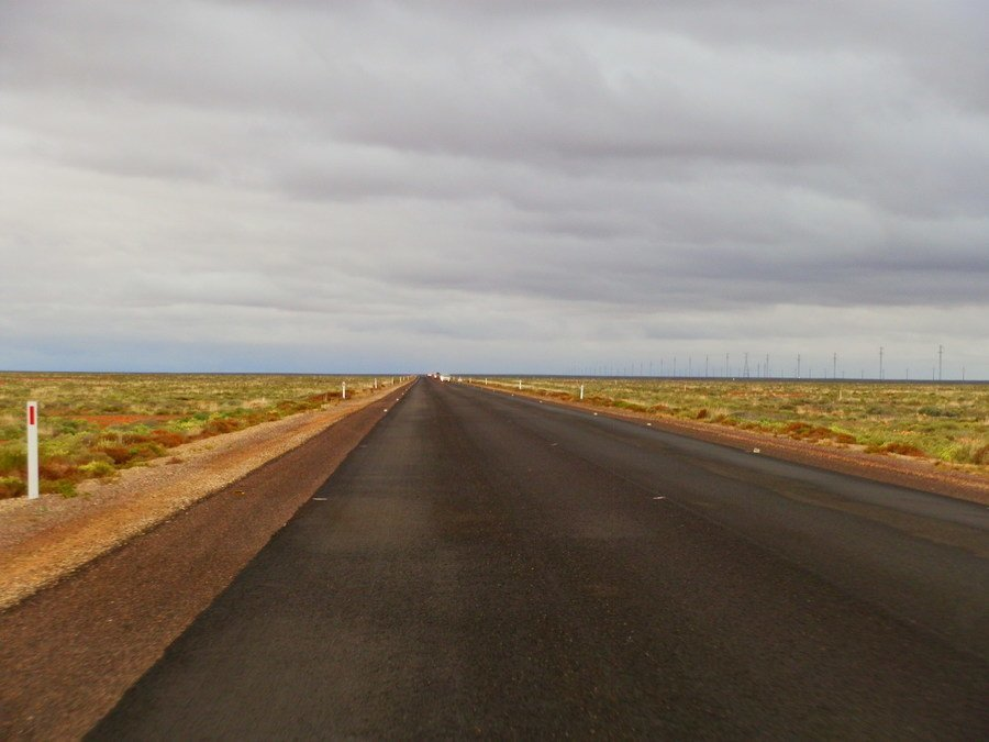 Outback road between Woomera and Roxby Downs, South Australia