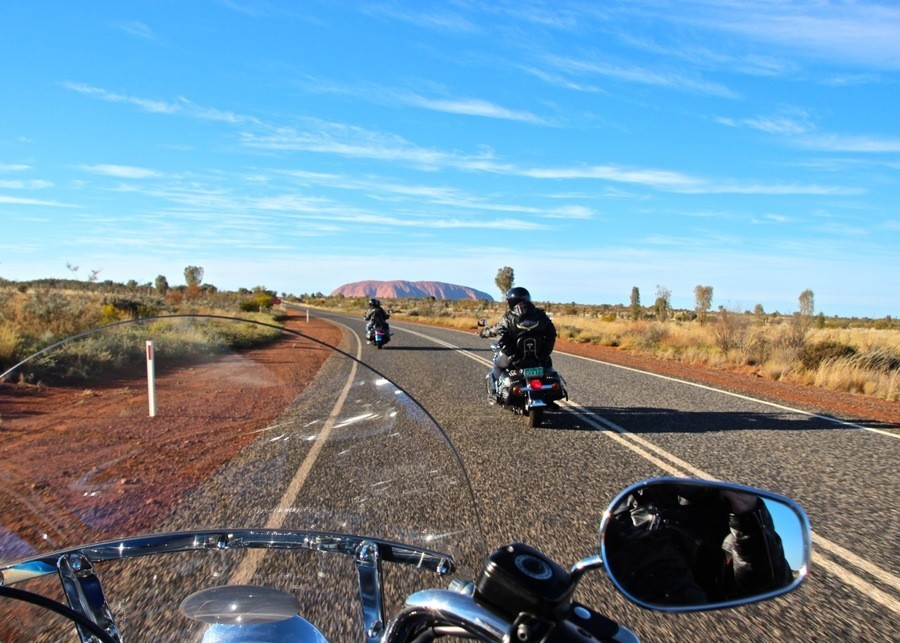 Uluru by Harley (Photo Courtesy Amanda Woods, Adventures All Around)