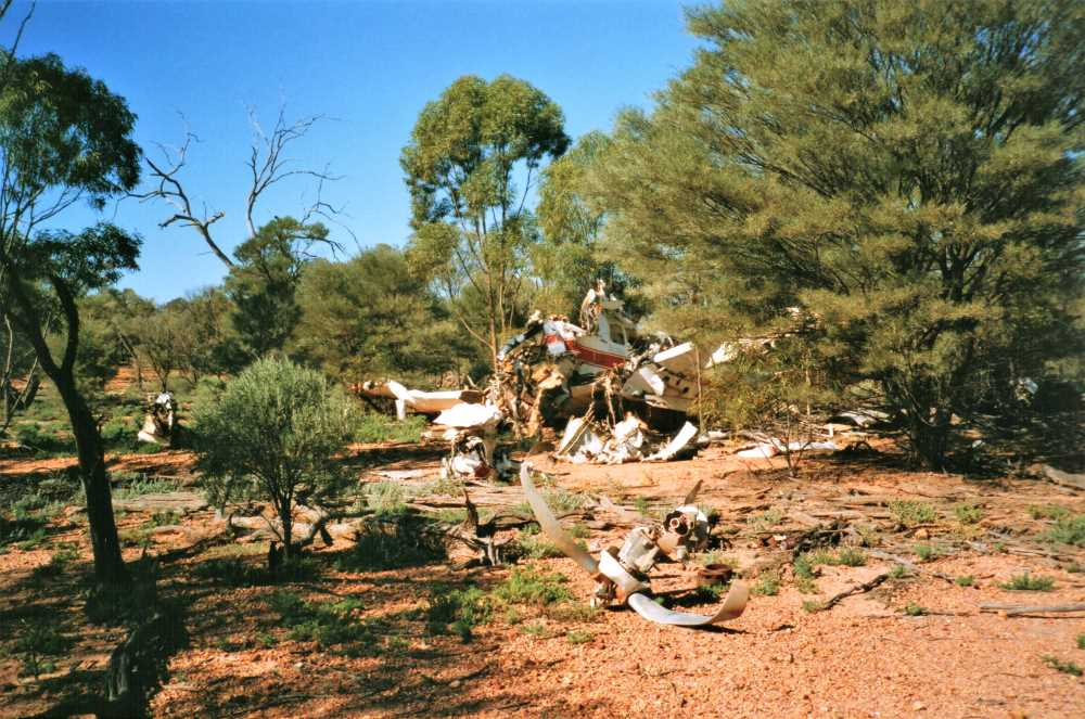 Plane crash site at Trinidad Station, Outback Queensland
