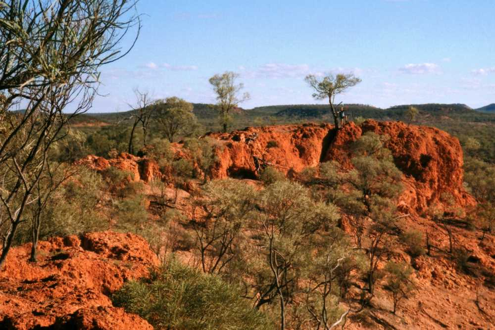 Climbing Baldy Top, Quilpie, Outback Queensland