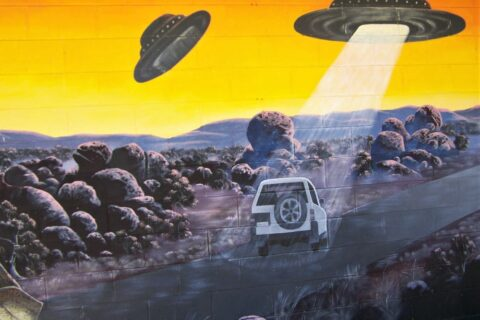 UFO Abduction Mural, Wycliffe Well, Northern Territory