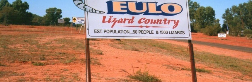 Eulo town sign, Outback Queensland