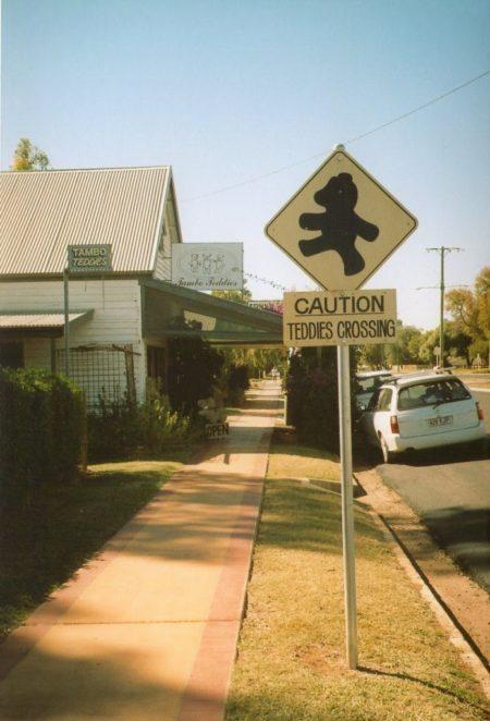 Tambo Teddies Road Sign
