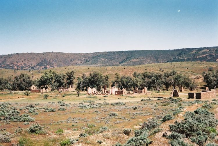 What's left at Kanyaka Historic Site, Flinders Ranges, South Australia