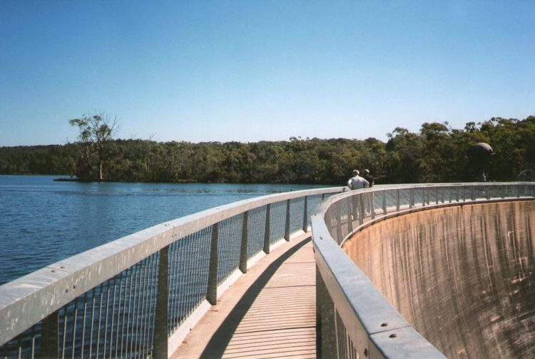 Track on the Whispering Wall Dam Wall, Adelaide