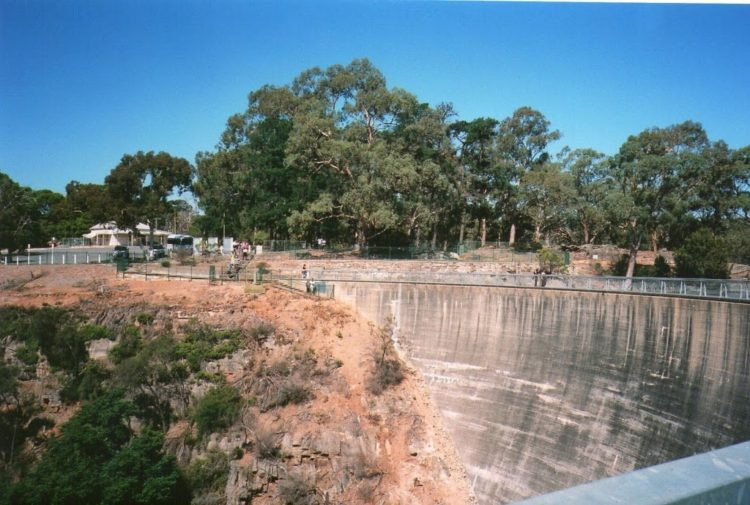 Whispering Wall from the other side, Barossa Valley Reservoir
