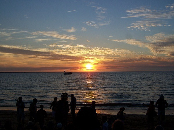 Sunset at the Mindil Beach markets, Darwin, Northern Territory
