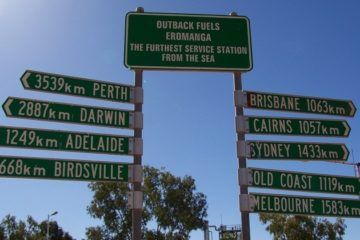 Eromanga Distance Sign, Outback Queensland