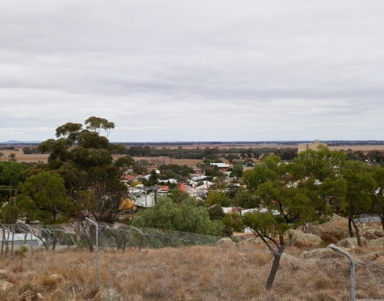Wycheproof's Broadway from Mt Wycheproof, Victoria