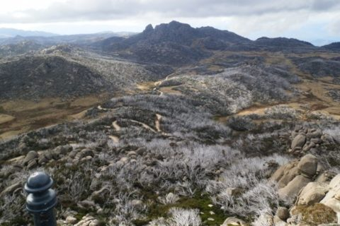 The road to the Horn, from the Horn lookout, Mt Buffalo National Park