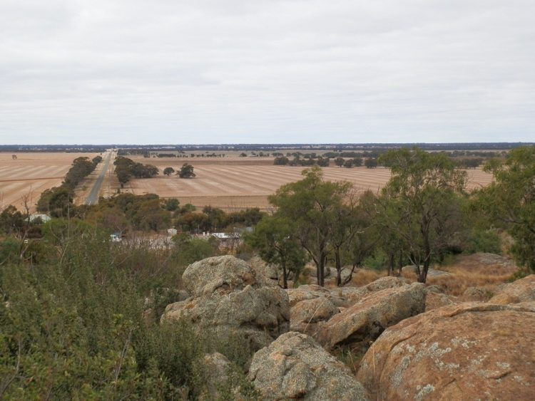 View from Mt Wycheproof Summit, Victoria
