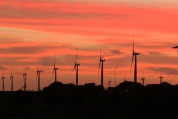 Sunset at Wattle Point Wind Farm, South Australia