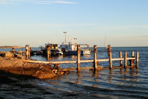 Fishing boats at Denham Jetty, Shark Bay, Western Australia