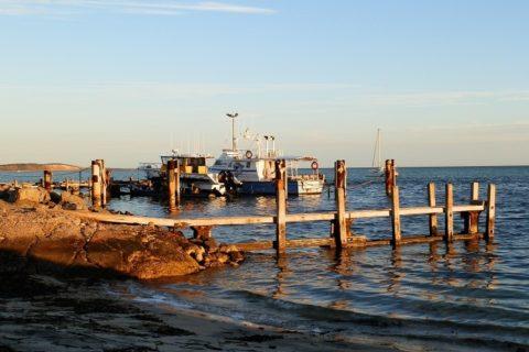 Fishing boats at Denham Jetty, Shark Bay, Western Australia