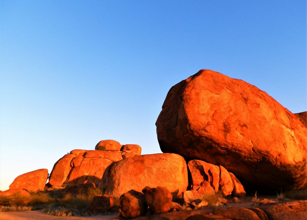 Evening light at the Devils Marbles, Northern Territory