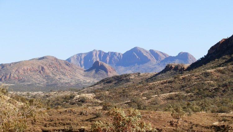 Mt Sonder from the Larapinta Trail, via Ormiston Gorge, Central Australia