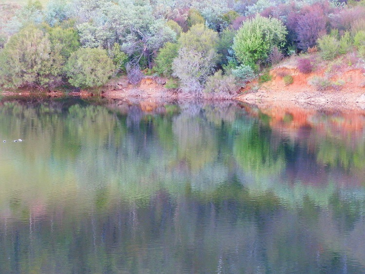Reflections at Khancoban Pondage, Snowy Mountains, New South Wales