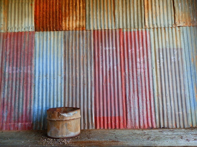 Corrugated Iron, Eurelia Railway Station Goods Shed, South Australia