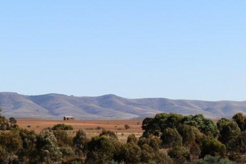 Horseshoe Range from Carrieton, South Australia