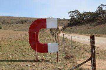 The Magnetic Hill Magnet, via Orroroo, South Australia