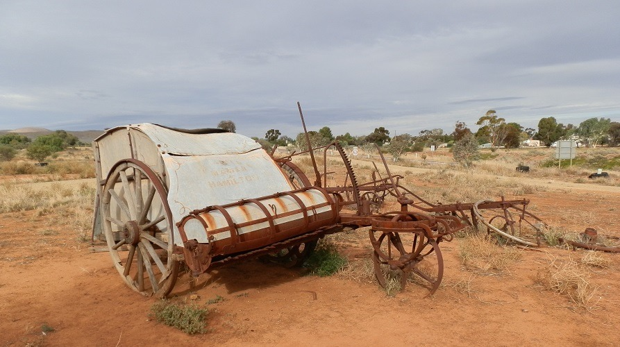 Old seeder at Yanyarrie Whim, Carrieton South Australia