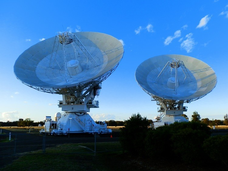 Sunset at the Australia Telescope Compact Array, Narrabri, New South Wales