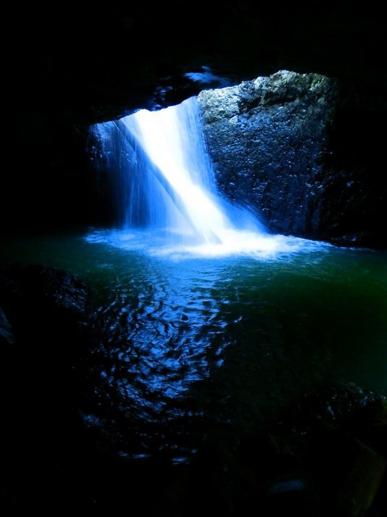 Waterfall at Natural Bridge, Springbrook National Park, Queensland