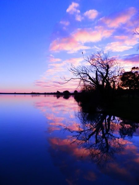 Sunrise at Lake Cullulleraine, via Mildura, Victoria