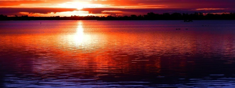 Lake Cullulleraine Sunset, Victoria, Australia