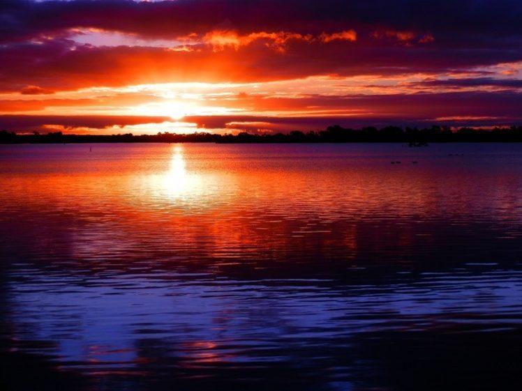 Lake Cullulleraine Sunset, Victoria, Australia