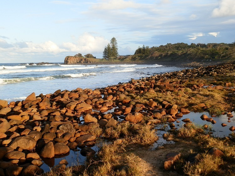 Boulder Beach, via Ballina, New South Wales