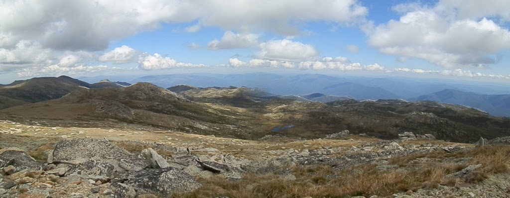 View from Mt Kosciuszko Summit, Snowy Mountains, New South Wales