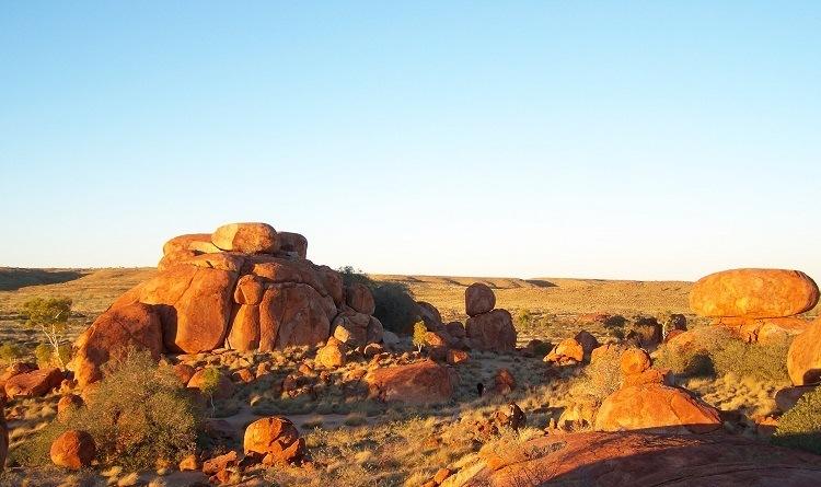 Sunrise at Karlu Karlu/Devils Marbles, Northern Territory