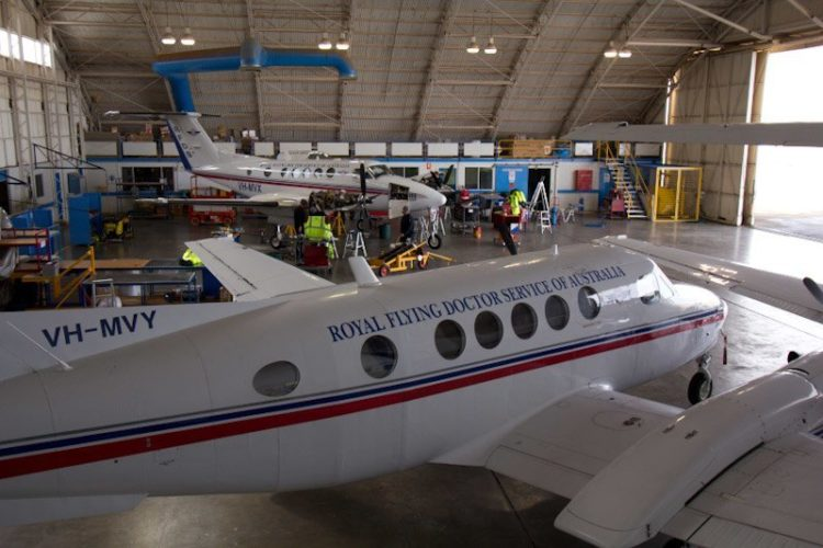 Flying Dr Service Plane, Broken Hill, NSW